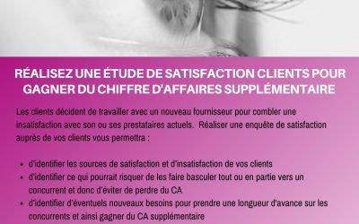 Réalisez une étude de satisfaction clients pour gagner du chiffre d'affaires supplémentaire
